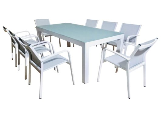 Albany 9pce Dining Setting - Outdoor Furniture Superstore
