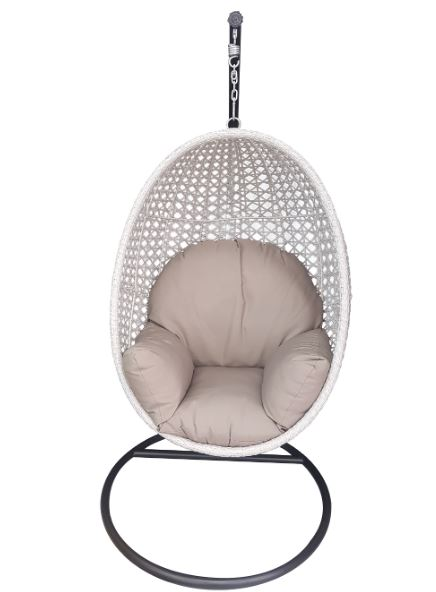 Burnley Hanging Egg Chair with Cushion - Outdoor Furniture Superstore