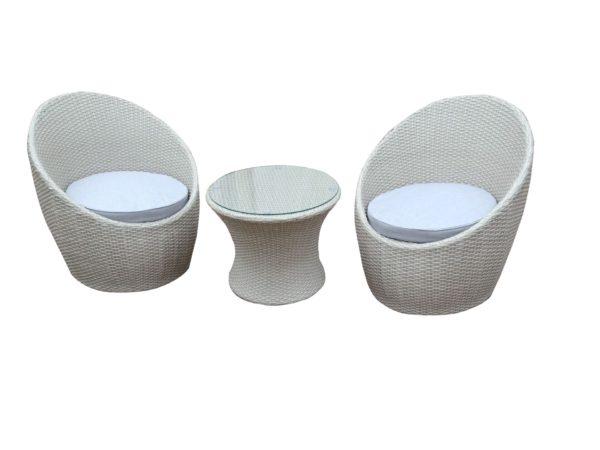 Camilo 3pce Wicker Balcony Setting - Outdoor Furniture Superstore