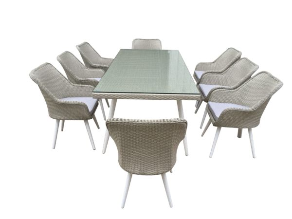 Fairfield 9pce Wicker Dining Setting - Outdoor Furniture Superstore