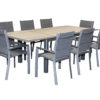 Allure Alum 9pce Ext Dining Setting - Outdoor Furniture Superstore