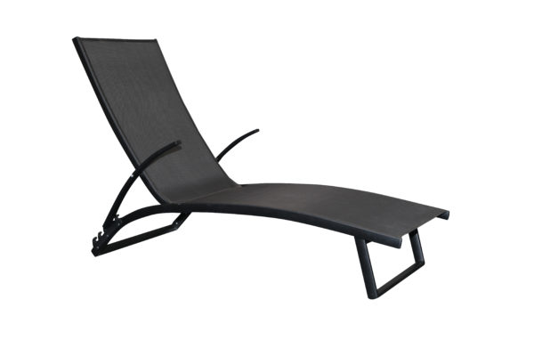Bloom Sunlounge Black - Outdoor Furniture Superstore