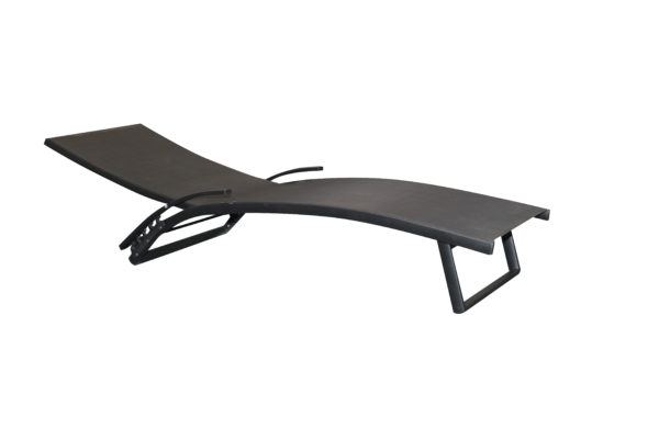 Bloom Folding Sun Lounge Black