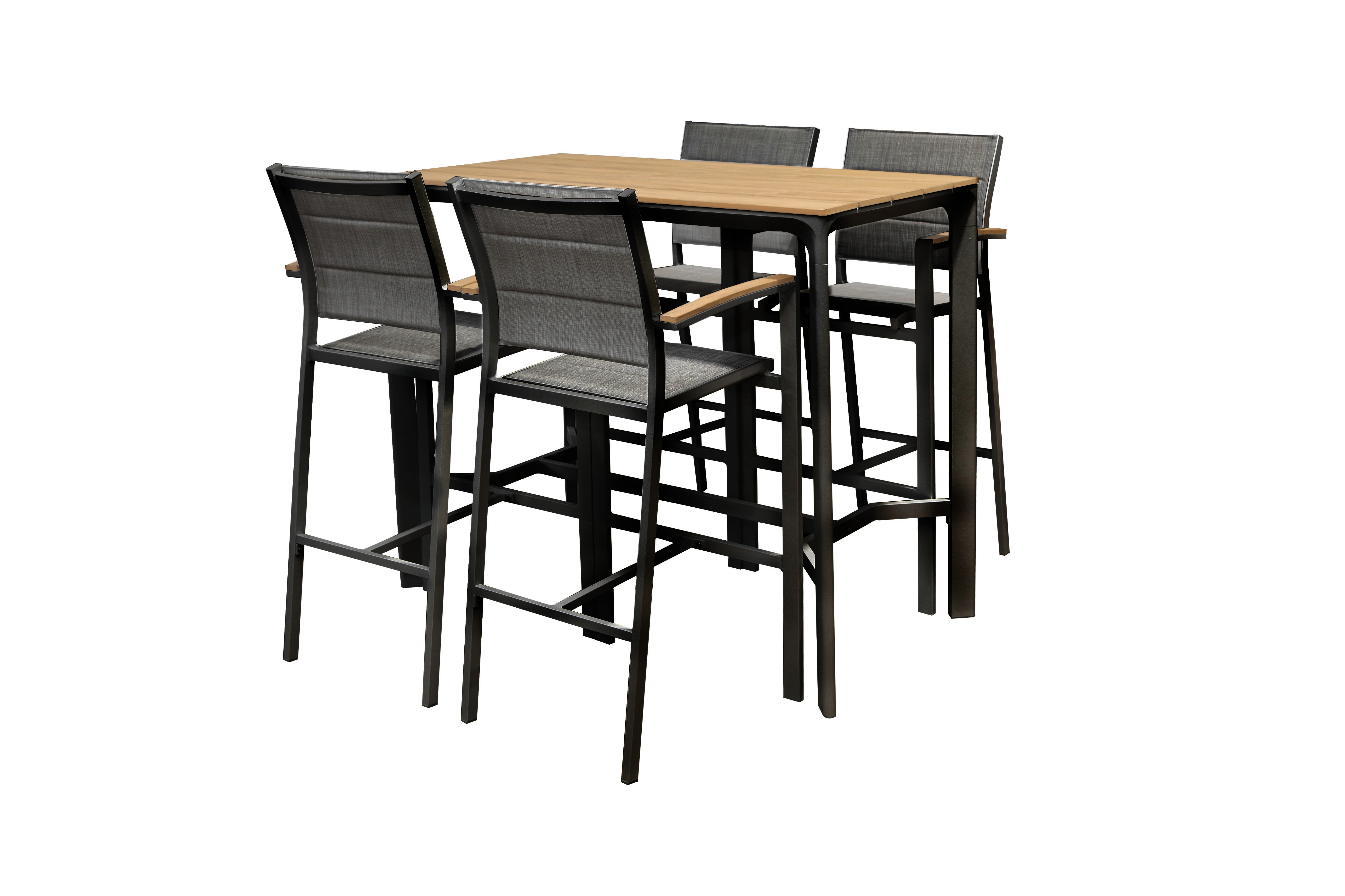 Picture of: Fina 5pce Bar Setting Black Outdoor Bar Settings Outdoor Dining