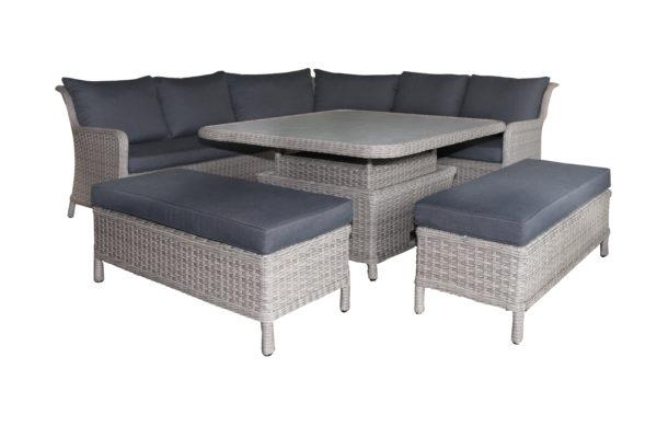 Lyra 6pce Corner Lounge Suite - Outdoor Furniture Superstore