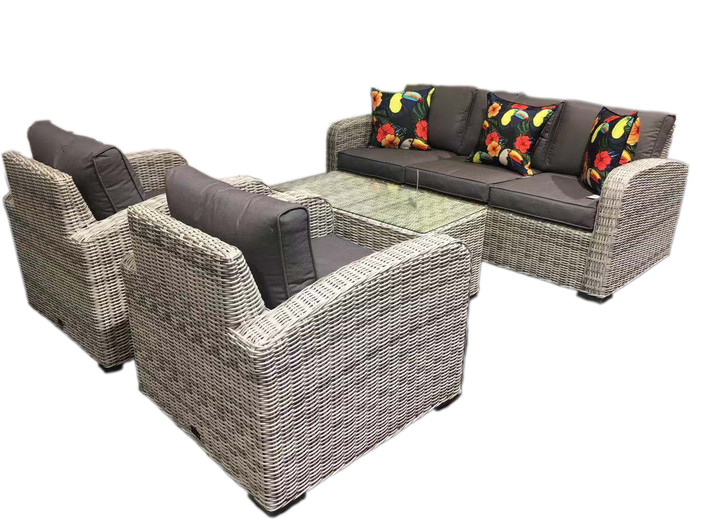 Fine Miami 4Pce Wicker Sofa Setting Outdoor Lounges Sofas Cjindustries Chair Design For Home Cjindustriesco