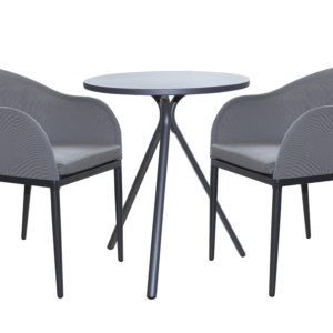 Murra 3pce Dining Set Charcoal - Outdoor Furniture Superstore