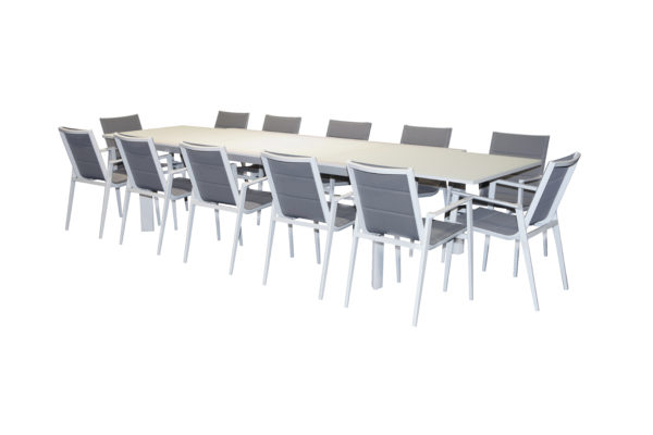 Pesaro 13pce Ext Dining Setting - Outdoor Furniture Superstore