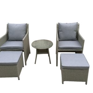 Salem 5pce Casual Balcony Setting - Outdoor Furniture Superstore