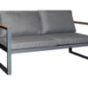 Solaro 2 Seater Lounge Charcoal - Outdoor Furniture Superstore