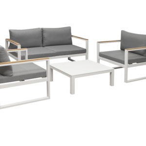 Solaro 4pce Lounge Setting White - Outdoor Furniture Superstore