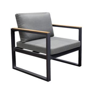Solaro Arm Chair Charcoal - Outdoor Furniture Superstore