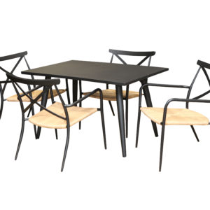 Milos 5pce Dining Setting - Outdoor Furniture Superstore