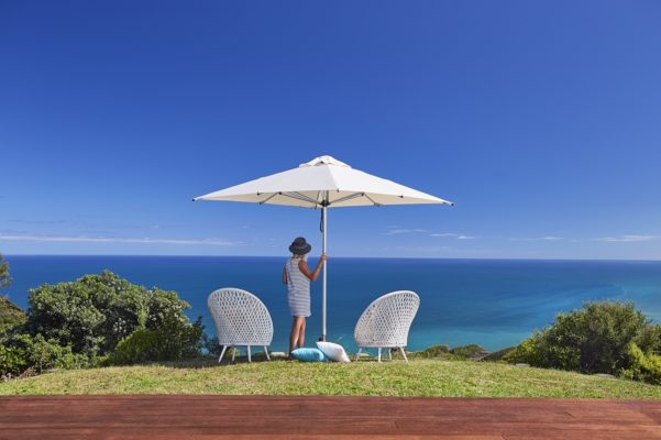 The Monaco Premium Market/Patio Umbrella 2.5m Square - Natural - Outdoor Furniture Superstore