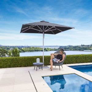 The Monaco Premium Market/Patio Umbrella 2.5m Square - Black - Outdoor Furniture Superstore