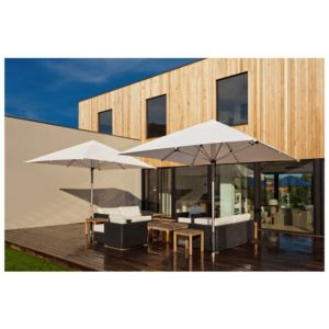 Cafe Centrepost Umbrella 3m Square - Black - Outdoor Furniture Superstore