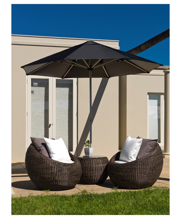 Cafe Centrepost Umbrella 4.2m Octagonal - White - Outdoor Furniture Superstore