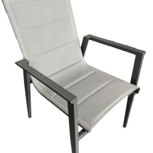 Bacoli Sling Chair Charcoal Silver Black