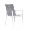 Bacoli Sling Chair White Silver Black