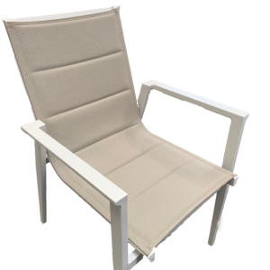 Bacoli Sling Chair White Khaki