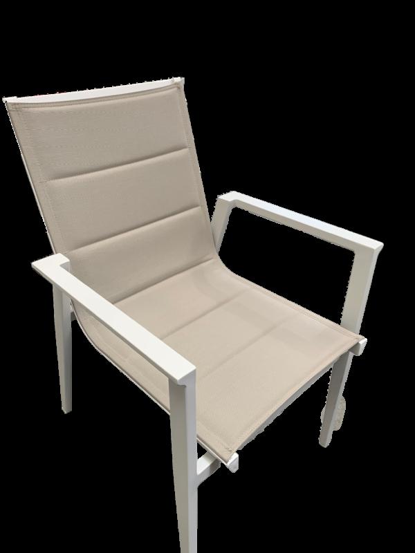Bacoli Sling Chair White Khaki