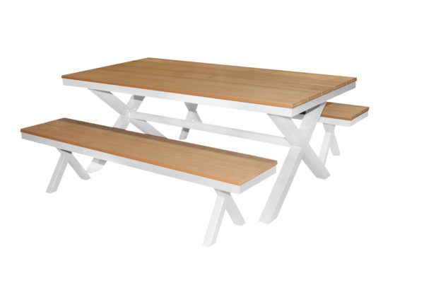 Polywood 3pce Bench Setting