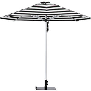 Monaco Umbrella Black White Stripe