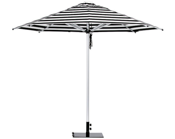 Monaco Umbrella Black White Stripe