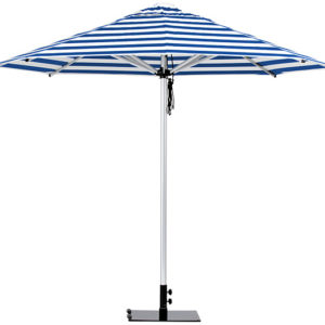 Monaco Umbrella Blue White Stripe