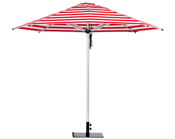 Monaco Umbrella Red White Stipe