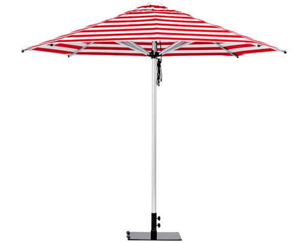 Monaco Umbrella Red White Stipe