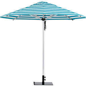 Monaco Umbrella Torquiose White Stripe
