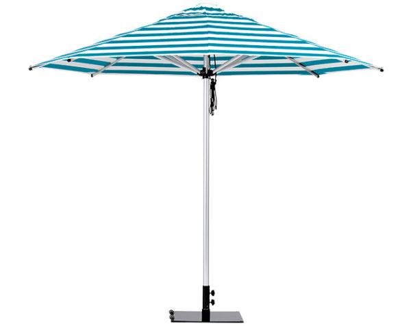 Monaco Umbrella Torquiose White Stripe