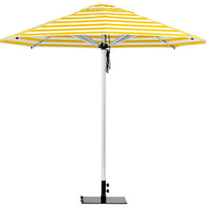 Monaco Umbrella Yellow White Stripe