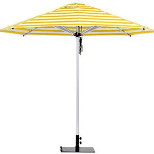 Monaco Umbrella Yellow White Stripe