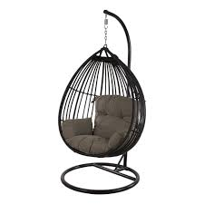 Koala Hanging Egg Chair Black