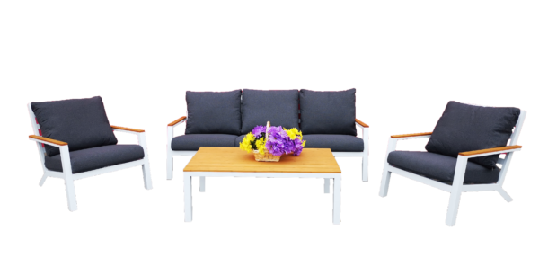 Alice 4pce Lounge Setting White