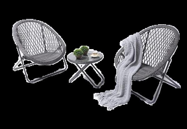Poulgh 3pce Folding Bistro Set