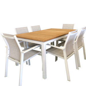 Essence Teak 7pce Dining Setting