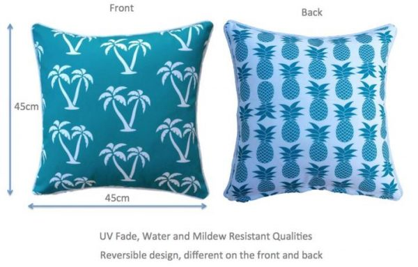 Aqua Palmapple Outdoor Cushion Cover 45 x 45cm