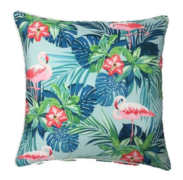 Flamingo Azure Outdoor Cushion Cover 45 x 45cm