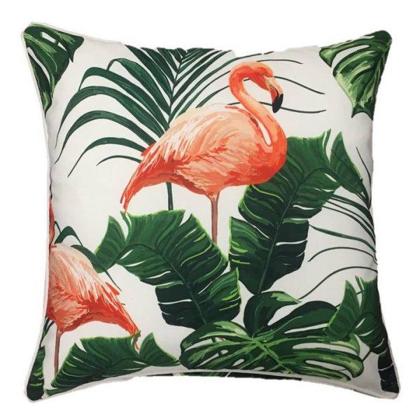 Flamingo Natural Outdoor Cushion Cover 45 x 45cm