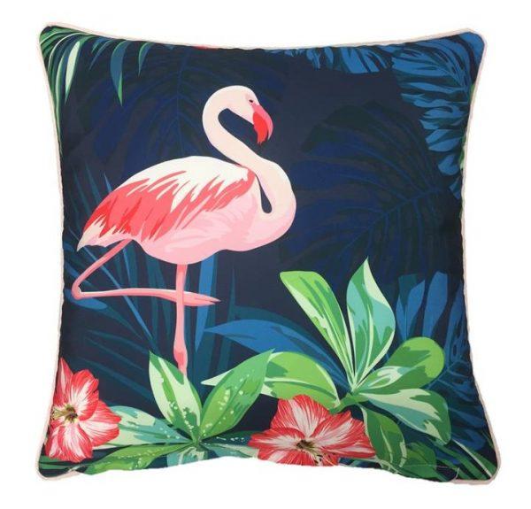 Flamingo Navy Outdoor Cushion Cover 45 x 45cm