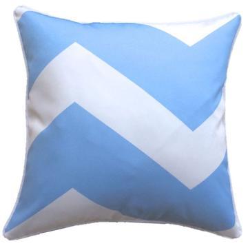 Chevron Blue Grey Outdoor Cushion Cover 45 x 45cm