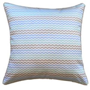 Mint Mini Chevron Outdoor Cushion 45 x 45cm