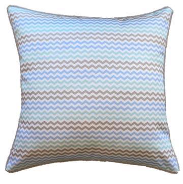 Mint Mini Chevron Outdoor Cushion 45 x 45cm
