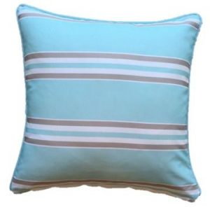 Mint Taupe Resort Stripe Outdoor Cushion 45 x 45cm