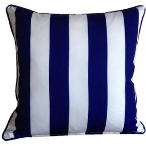 Mykonos Blue Yellow Stripe Outdoor Cushion 45 x 45cm