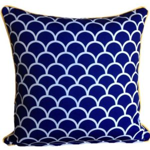Mykonos Blue Fishscale Outdoor Cushion 45 x 45cm