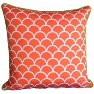 Orange Fishscale Outdoor Cushion 45 x 45cm